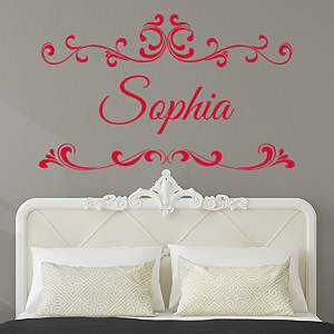 Personalized Name and Monogram Rub On Transfer Decals