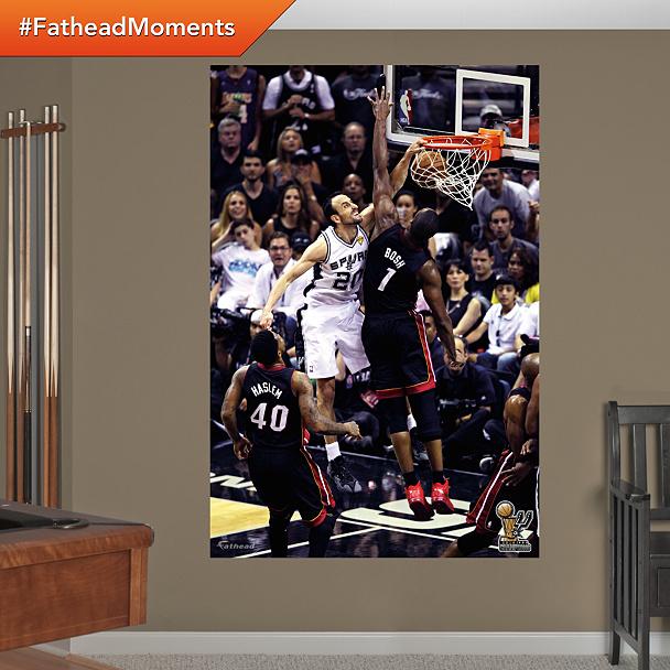 Manu Ginobili NBA Finals Dunk Mural
