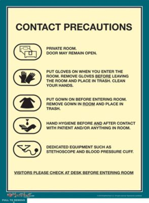 Isolation Precautions Signs Contact Precautions Sign