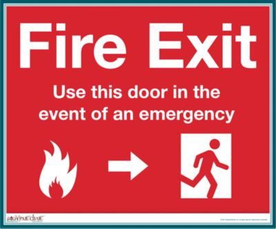 Fire exit sign regulations