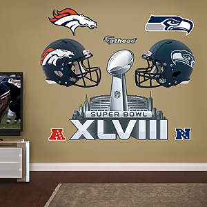 Super Bowl XLVIII Party Pack Fathead Wall Decal