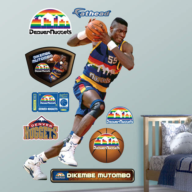 Denver Nuggets Kid: Life-Size Dikembe Mutombo Wall Decal