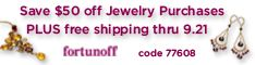$50 Off Jewelry Purchases PLUS Free Shipping at Fortunoff  till 09.21.2008