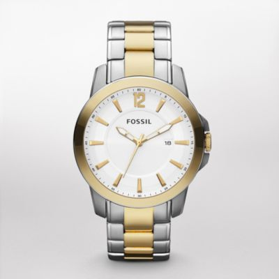 Classic Casual Two Tone Men's Watch