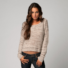 Fox Throwback Crop Sweater