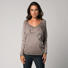 Fox Whirl Long Sleeve Top