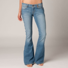 Fox Sweeper Skinny Flare Jean - Faded