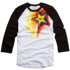 Fox Rockstar Faded Baseball Tee