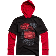 Fox Kids Spliced Up 2Fer Hoody