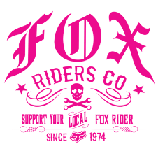 Fox Retro Rider Sticker