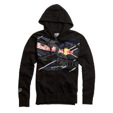 Fox Red Bull X-Fighters Strike Thru Zip Front Hoody