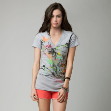 Fox Roadmap Vneck Tee