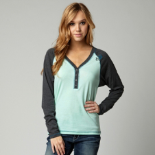 Fox Anxious Long Sleeve Henley