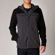 Fox Crossed Zip Front Hoody