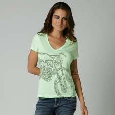 Fox Sidetracked Vneck Tee