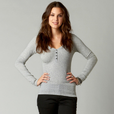 Fox Fortune Long Sleeve Henley