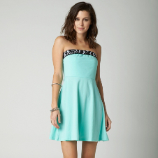 Fox Highway Strapless Dress