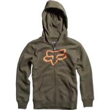 Fox Boys Tract Zip Front Hoody