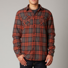 Fox Black Gold L/S Sherpa Flannel Shirt