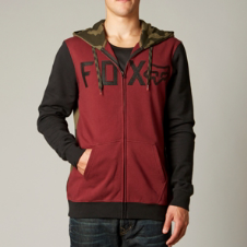 Fox Wingd Camo Zip Front Hoody