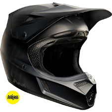Fox V3 Matte Black Helmet
