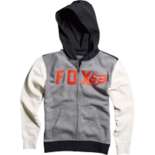 Fox Boys Wingd Zip Front Hoody