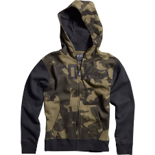 Fox Boys Wingd Camo Zip Front Hoody
