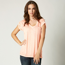 Fox Miss Clean Vneck Roll Tee