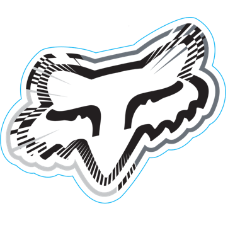 Fox Spiked Sticker