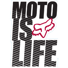 Fox Moto is Life Sticker