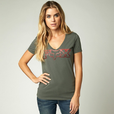 Fox Fascinate Vneck Tee