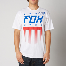 Fox Red, White and True S/S Basic Tee