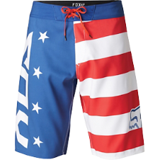Fox Red, White and True Boardshort