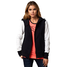 Side Swiped Zip Hoody