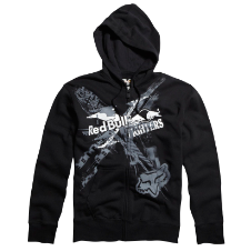 Fox Red Bull X-Fighters Exposed Zip Front Fleece