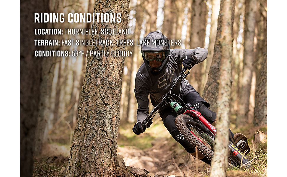 List of the mountain bike riding condition Mark Scott rode in during the video