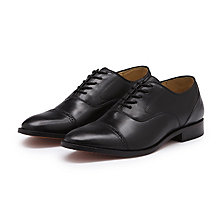 BARNEY CAP TOE OXFORD BLACK