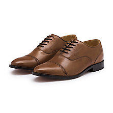 BARNEY CAP TOE OXFORD TAN