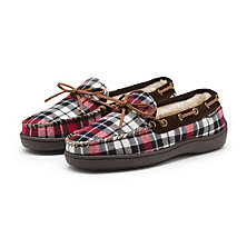 LINK SLIPPER RED PLAID