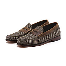 GLEN PLAID WEEJUNS BROWN COMBO