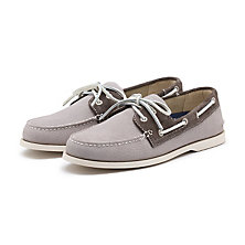 HAMPTON SUEDE BOATER GREY