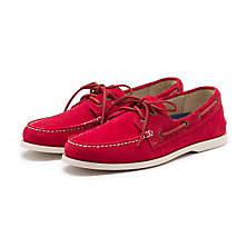 HAMPTON SUEDE BOATER RED