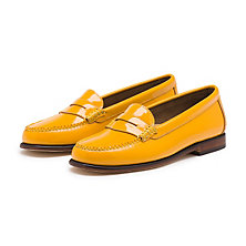 PATENT WEEJUNS YELLOW