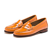 PATENT WEEJUNS ORANGE