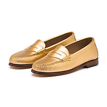 METALLIC WEEJUNS GOLD