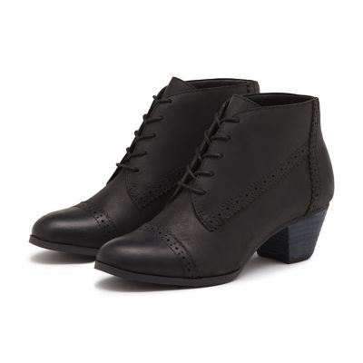 PORTER LEATHER BOOTIE BLACK