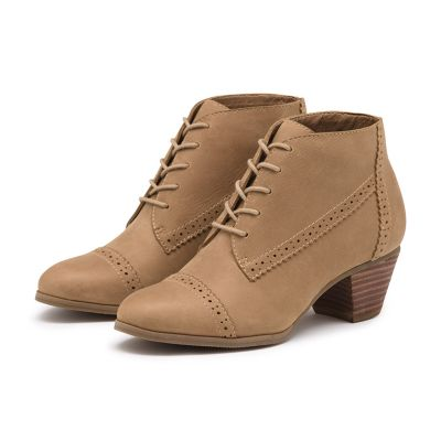 PORTER LEATHER BOOTIE TAN