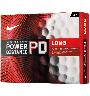 Nike Men's Power Distance Long Golf Balls - 12 pack
