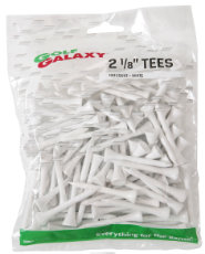 "Golf Galaxy 2 1/8"" White Golf Tees - 100 count"