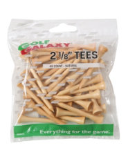 "Golf Galaxy 2 1/8"" Natural Golf Tees - 40 Count"